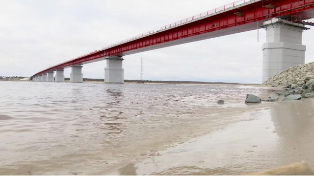 Материалы ВМП защищают Пуровский мост